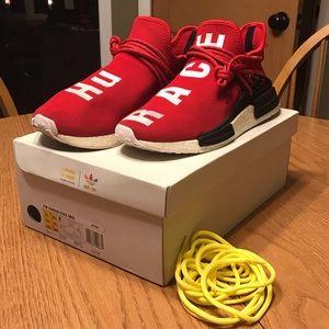 10fc0d55d7b6e adidas Shoes - Adidas x Pharrell NMD human race scarlet. Size 11